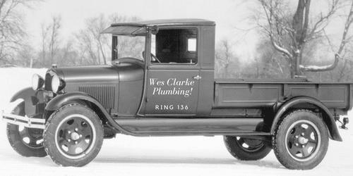 Wes Clarke Plumbing Truck